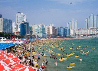 Bãi biển Haeundae nổi tiếng nhất Hàn Quốc